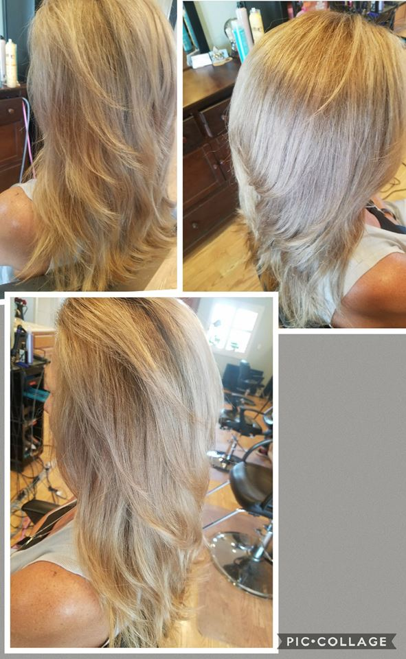 Hair color, cut, and style at Bliss Hair Studio in Rosamond CA