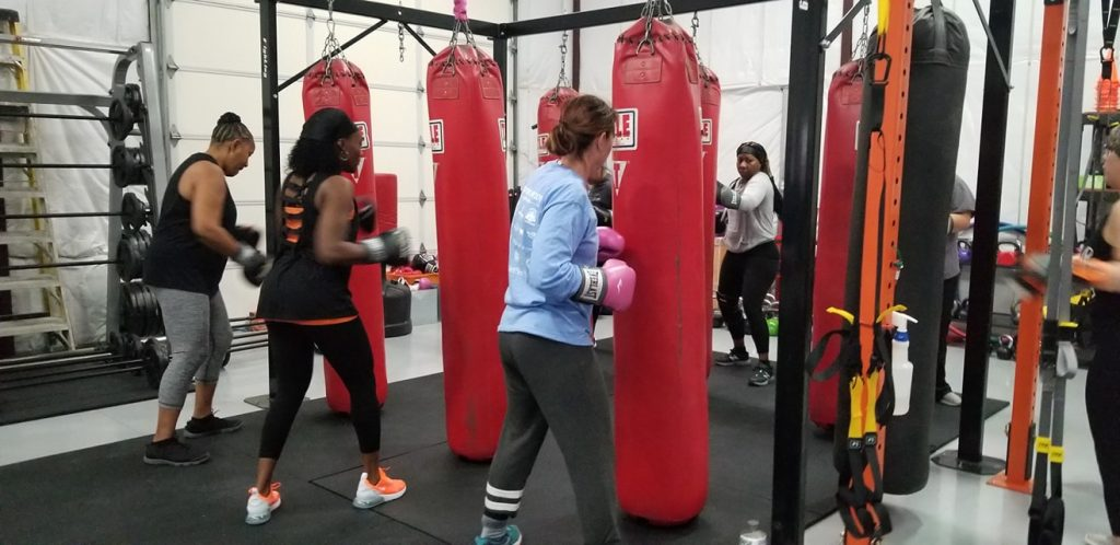 Boxing class at One Core Fitness