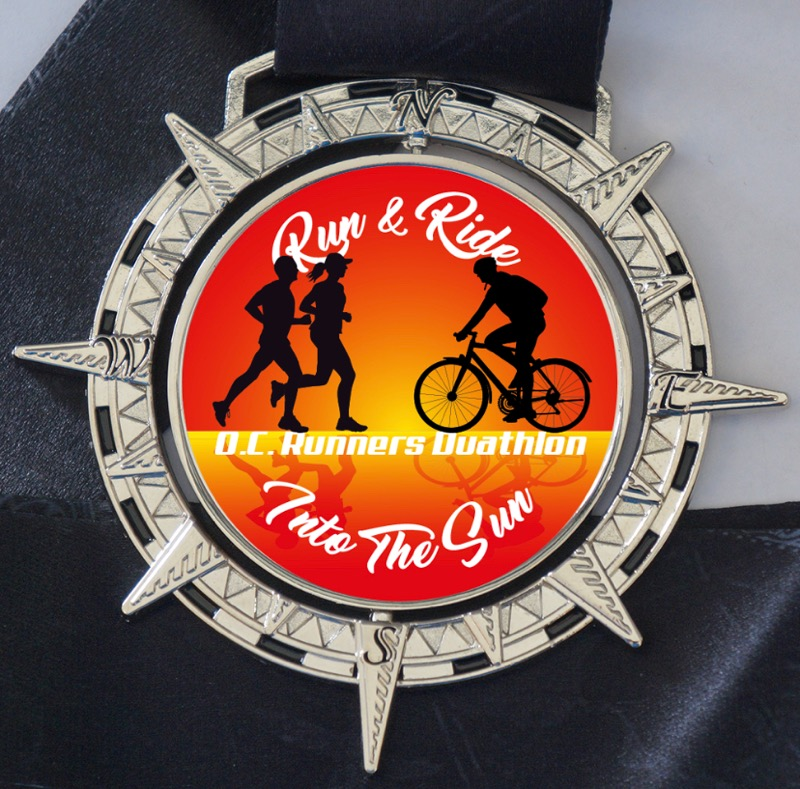 Run & Ride Into The Sun Duathlon Medal