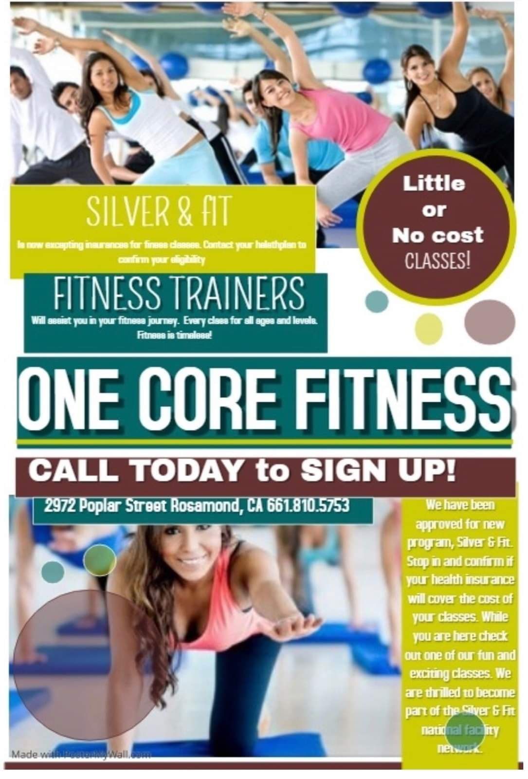 One Core Fitness Silver & Fit
